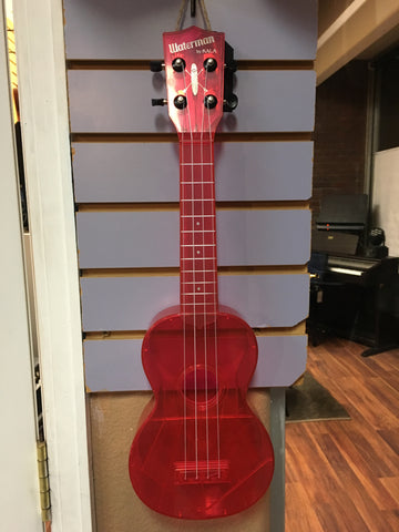 Kala Waterman Ukulele Translucent Pink