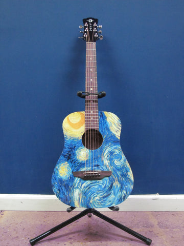 Luna Safari Starry Night 3/4 size Guitar