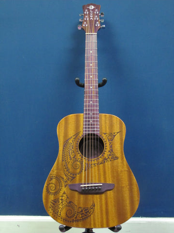 Luna Safari Tattoo 3/4 size Acoustic Guitar