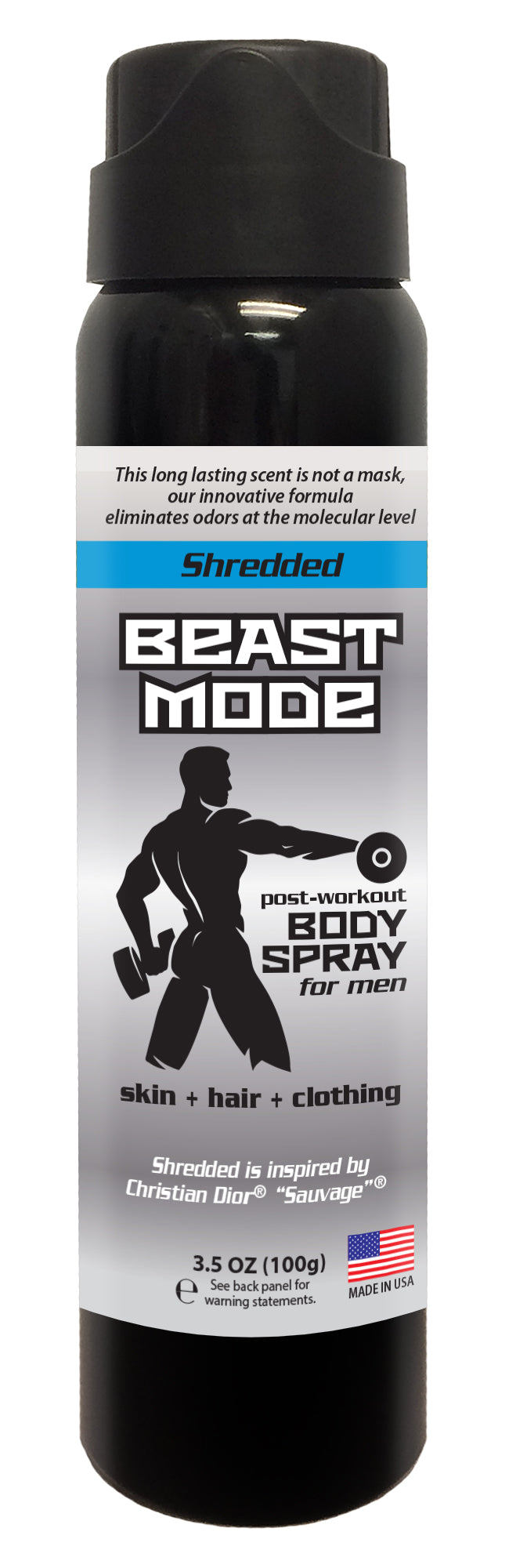 Beast Mode - Men's Post Workout Body Spray - 3.5 oz (SHREDDED)