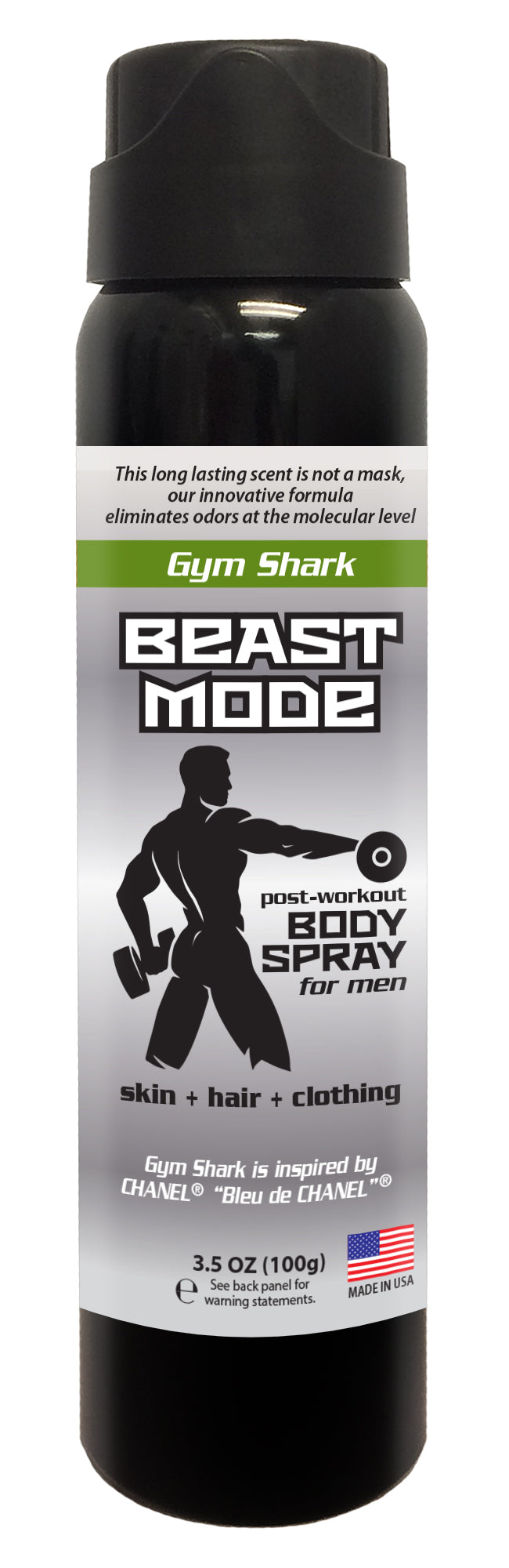Beast Mode - Men's Post Workout Body Spray - 3.5 oz (GYM SHARK)