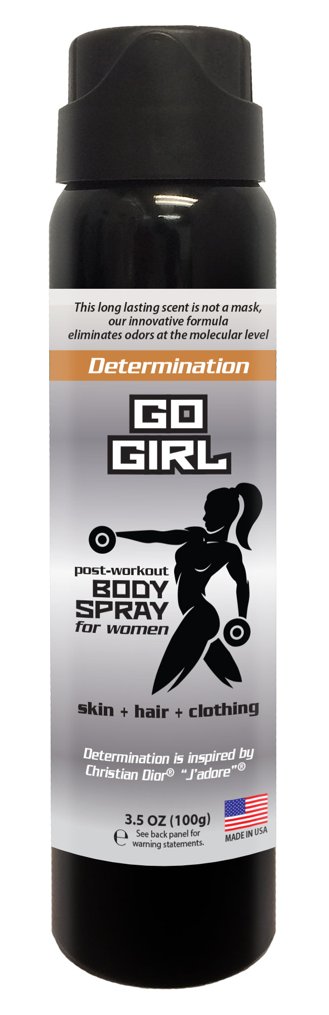 Go Girl - Women's Post Workout Body Spray 3.5 oz (DETERMINATION)