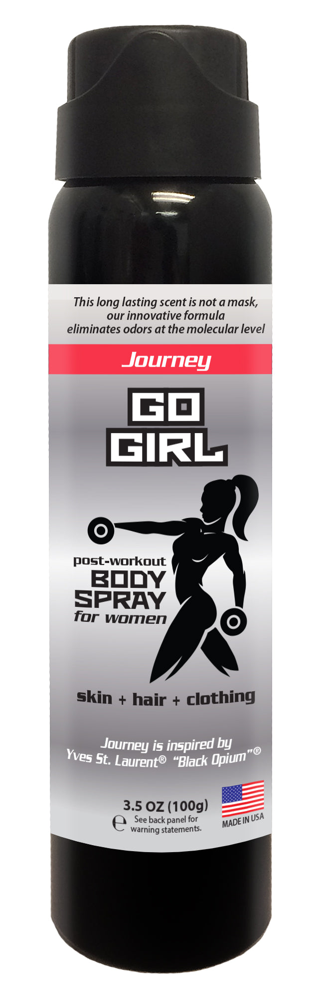 Go Girl - Women's Post Workout Body Spray 3.5 oz (JOURNEY)