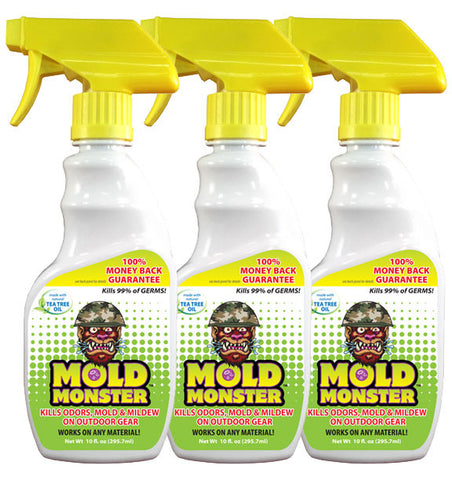 3 pack- 10oz Bottle Outdoor Mold Monster