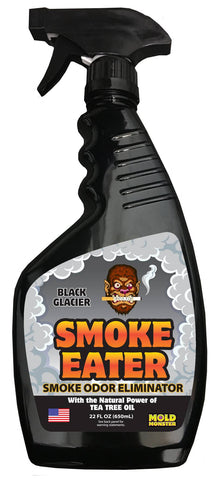 22oz Bottle of Smoke Eater- Black Glacier