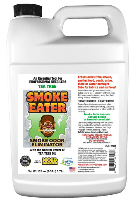 Smoke Eater, Tea Tree-Based Smoke Odor Cleaner, 1 Gallon