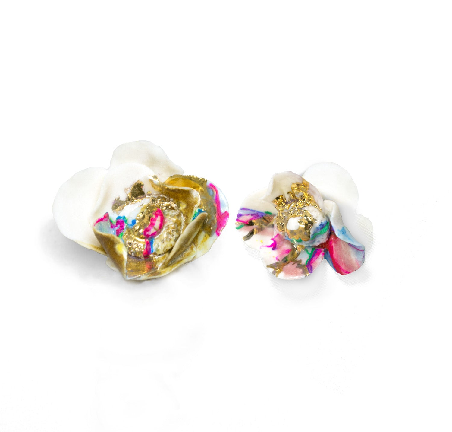 Anali Porcelain Flower Earrings
