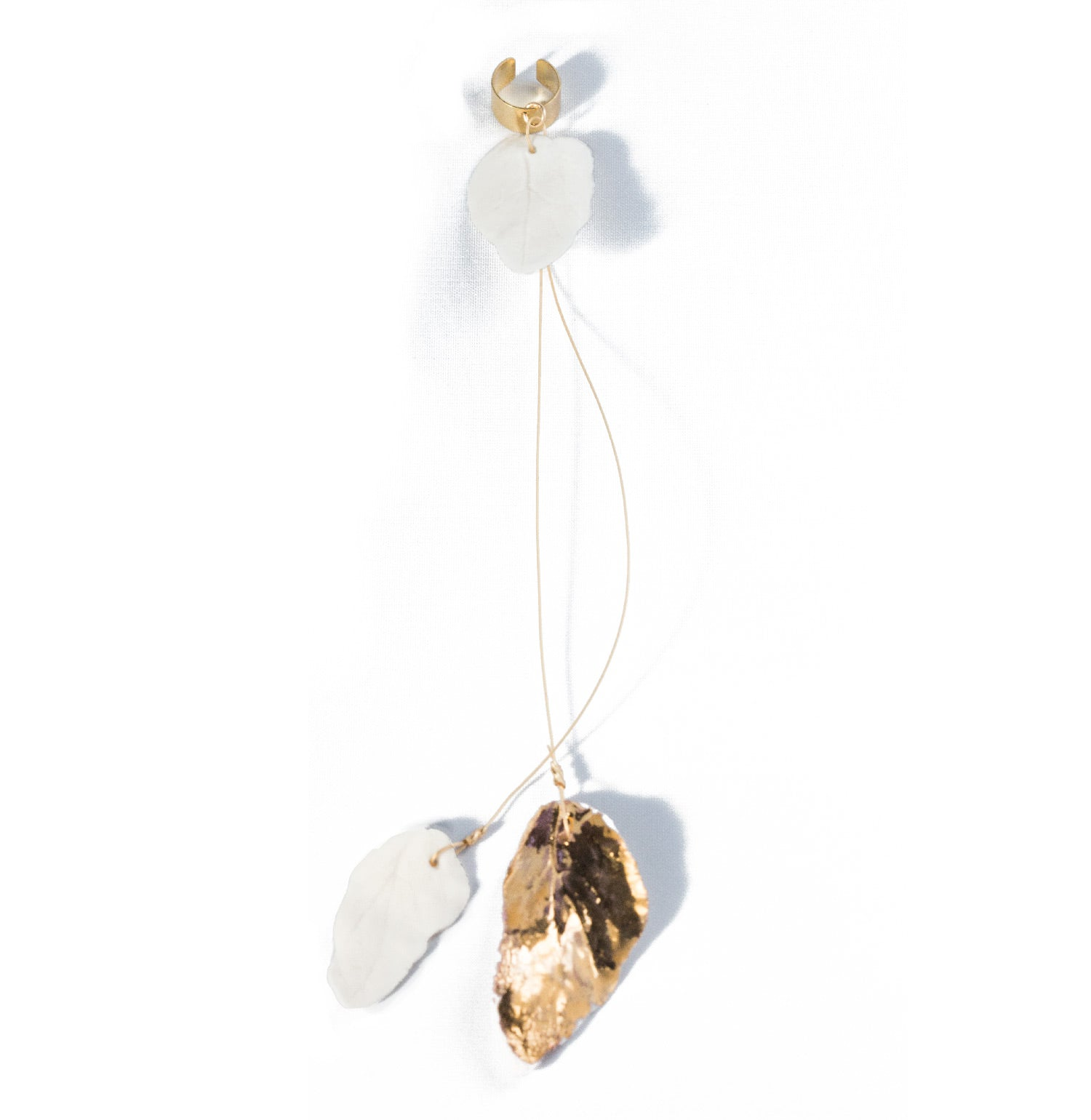 Gold Falling Leaves Ear Cuff
