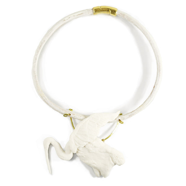 Porcelain Crane Collar