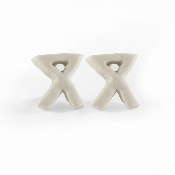 "letter ""x"" stud earrings"