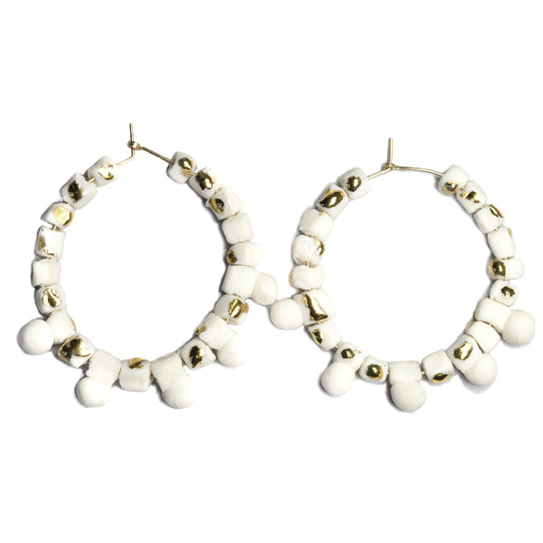 Regal Beaded Hoops