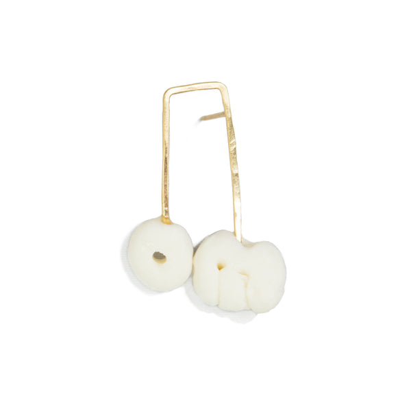 Long Motif Porcelain Stud