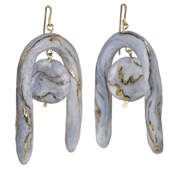 Marbled Sol Earrings