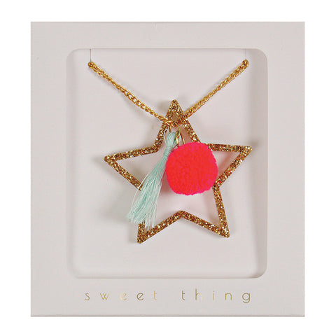 Meri Meri Shiny Star Necklace