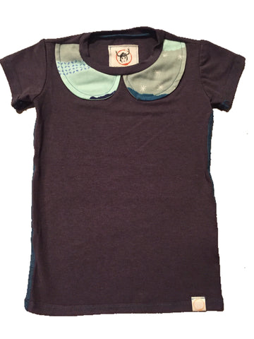 Green Sunset Collar Tee