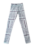 Desert Stripe Scrunch Knee Patch Leggings