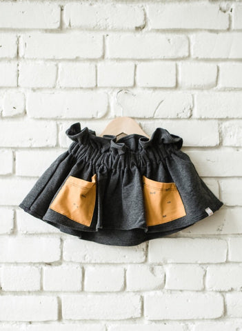 Sunny Dot Pocket Paper Bag Skirt