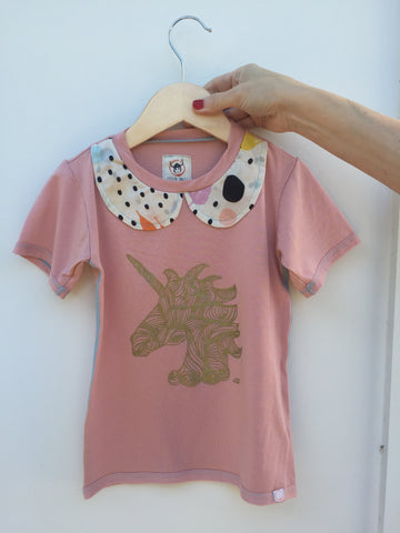 Uni Unicorn Artist Collar Tee
