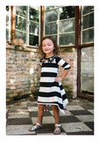 Noir et Blanc Swing Dress