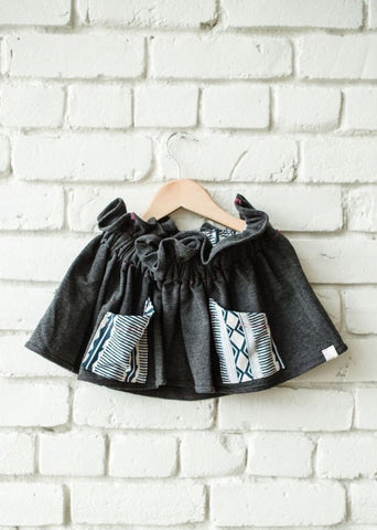 Tribal Pocket Paper Bag Skirt