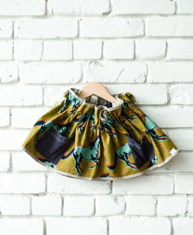 Rad Horse Paper Bag Skirt