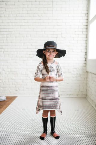 Desert Stripe Swing Dress