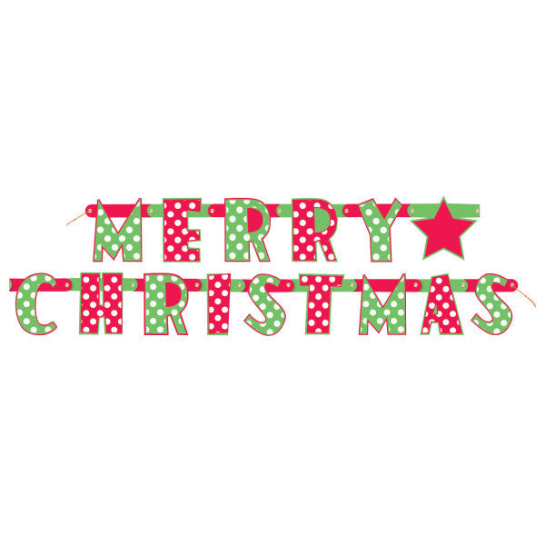 Christmas Dots Jointed Banner