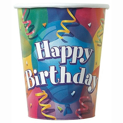 Brilliant Birthday 9 oz Cups - Sakura Toyland, Inc