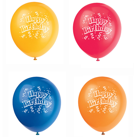 "Brilliant Birthday 12"" Latex Balloons, 8ct."