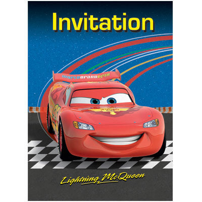 Disney Cars Party Invitations - Sakura Toyland, Inc