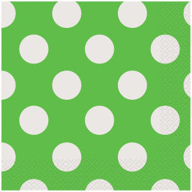 Lime Green Dots Lunch Napkins, 16ct.