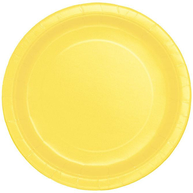"Soft Yellow 9"" Plate - Sakura Toyland, Inc"