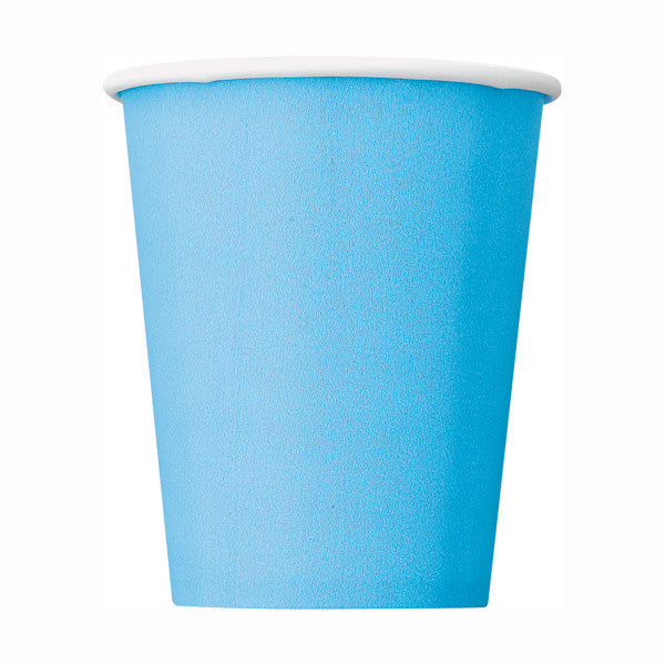 Powder Blue 9oz Cups, 8ct.