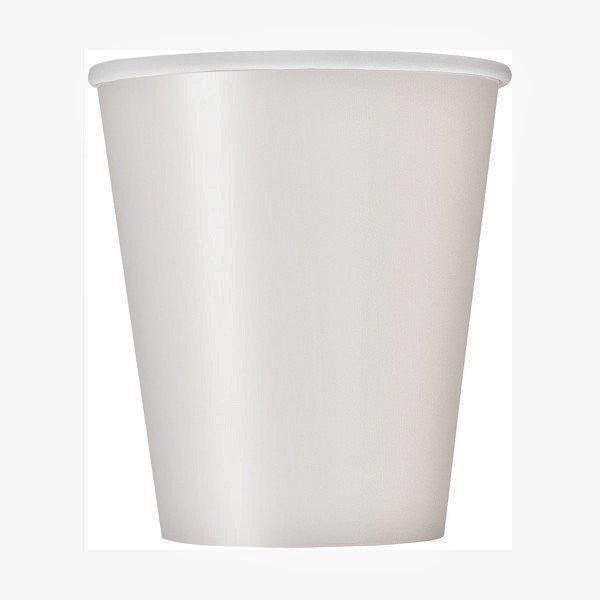Bright White 9oz Cups, 8ct.