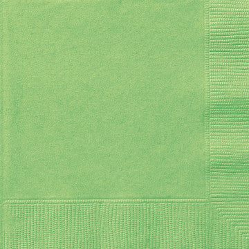Lime Green Beverage Napkins - Sakura Toyland, Inc