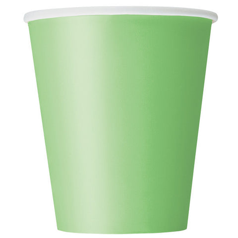 Lime Green 9oz Cups, 8ct.