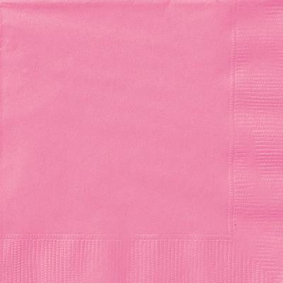 Hot Pink Beverage Napkins - Sakura Toyland, Inc