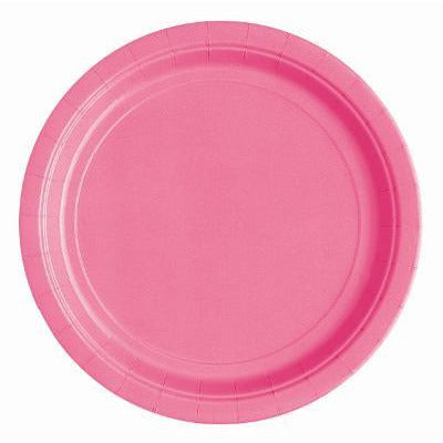 Hot Pink Lunch Plates - Sakura Toyland, Inc