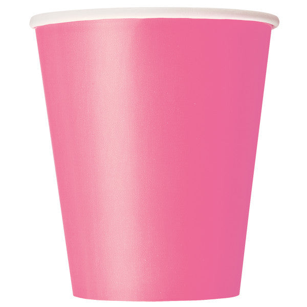Hot Pink 9oz Cups, 8ct.