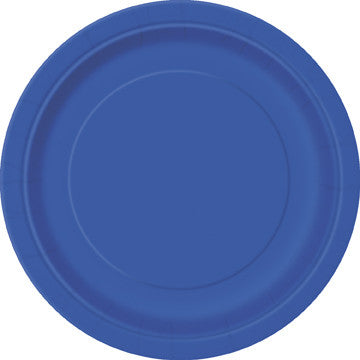"Royal Blue 7"" Plates - Sakura Toyland, Inc"