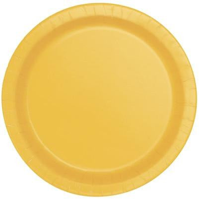 "Sunflower Yellow 7"" Plates - Sakura Toyland, Inc"