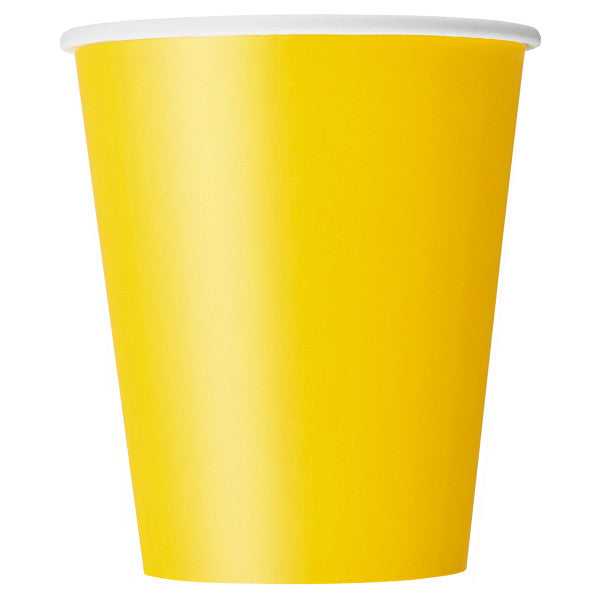 Sunflower Yellow 9oz Cups, 8ct.