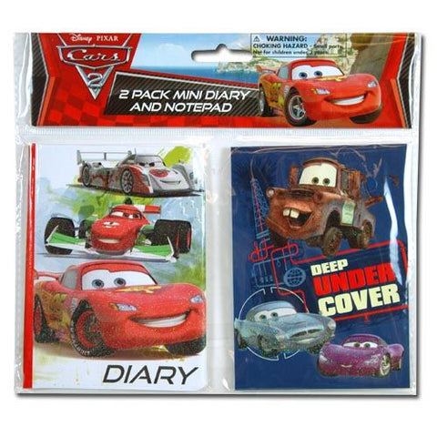 Disney Cars Mini Diary & Note Pad Set - Sakura Toyland, Inc