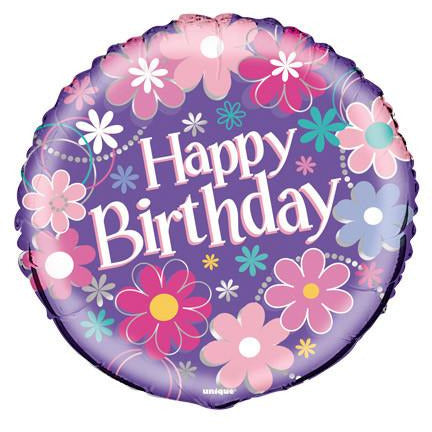 Birthday Blossom Foil Balloon - Sakura Toyland, Inc