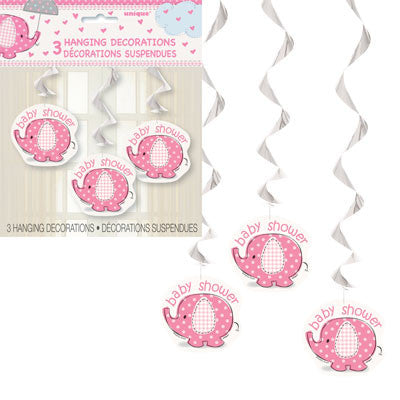 Umbrellaphants Pink Swirl Decoration - Sakura Toyland, Inc
