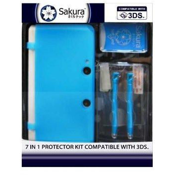 Sakura 7 in 1 Protector Kit Compatible with 3DS - Sakura Toyland, Inc