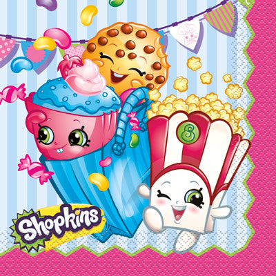 Shopkins Lunch Napkins - Sakura Toyland, Inc