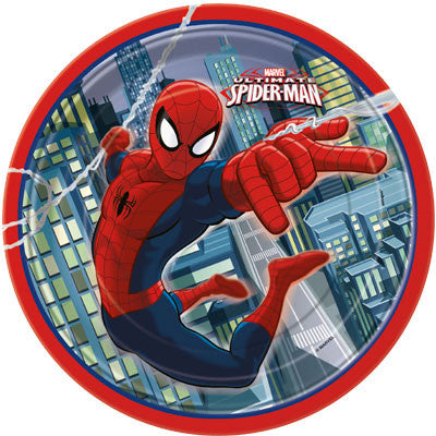 Spider-Man Round Lunch Plates - Sakura Toyland, Inc