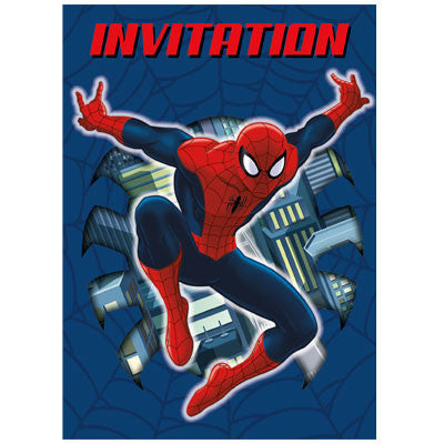 Spider-Man Invitations - Sakura Toyland, Inc