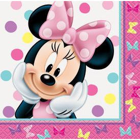 Minnie Bowtique Beverage Napkin